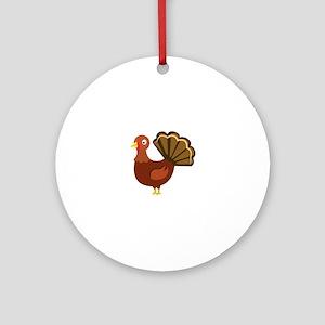 Holiday Turkey Round Ornament