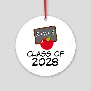 2028 Class Pride Round Ornament
