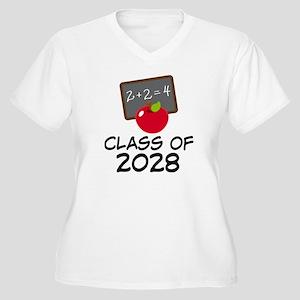 2028 Class Pride Women's Plus Size V-Neck T-Shirt