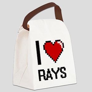I Love Rays Digital Design Canvas Lunch Bag