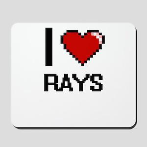 I Love Rays Digital Design Mousepad
