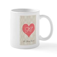 Cute Heart Monogram Mug
