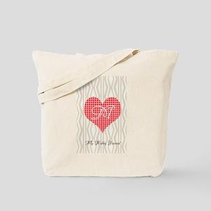 Cute Heart Monogram Tote Bag