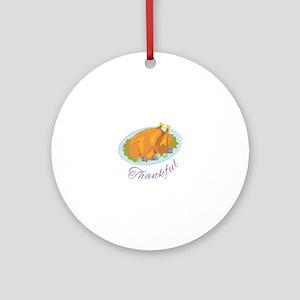 Thankful Round Ornament