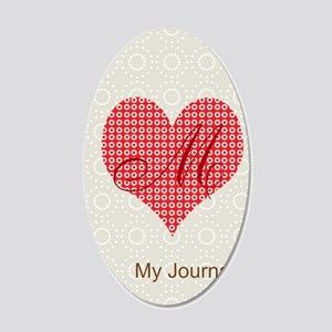 Cute Heart Monogram 20x12 Oval Wall Decal