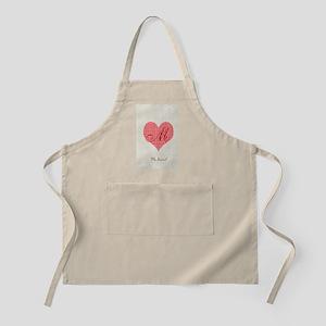 Cute Heart Monogram Apron