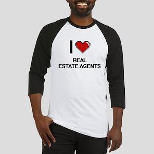 I Love Real Estate Agents Digital Baseball Jersey