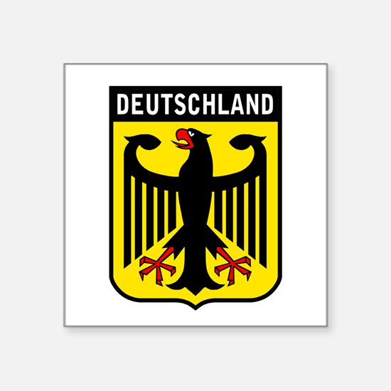 "Cute German culture Square Sticker 3"" x 3"""