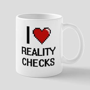 I Love Reality Checks Digital Design Mugs
