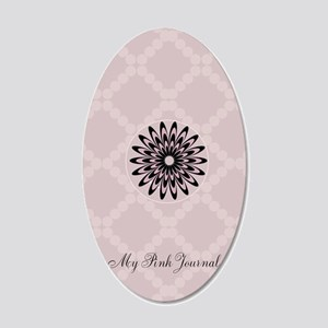 Custom Retro Pastel Pink 20x12 Oval Wall Decal