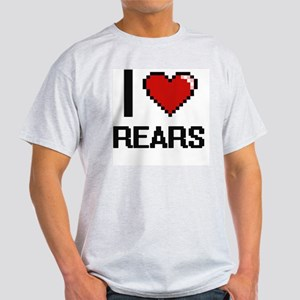 I Love Rears Digital Design T-Shirt