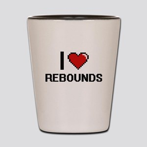 I Love Rebounds Digital Design Shot Glass