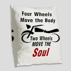 MOTORCYCLE - FOUR WHEELS MOVE  Burlap Throw Pillow