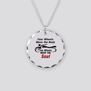 MOTORCYCLE - FOUR WHEELS MOV Necklace Circle Charm