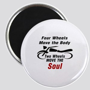 MOTORCYCLE - FOUR WHEELS MOVE THE BODY, 2 W Magnet