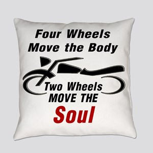 MOTORCYCLE - FOUR WHEELS MOVE THE  Everyday Pillow