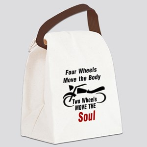 MOTORCYCLE - FOUR WHEELS MOVE THE Canvas Lunch Bag