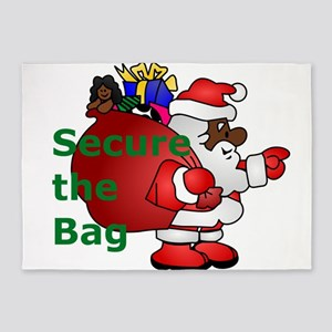 secure the bag santa 5'x7'Area Rug