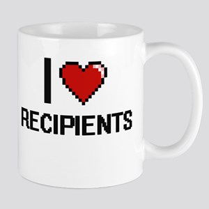 I Love Recipients Digital Design Mugs