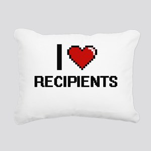 I Love Recipients Digita Rectangular Canvas Pillow
