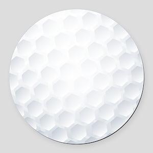 Golf Ball Texture Round Car Magnet