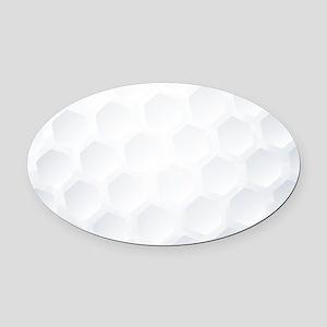 Golf Ball Texture Oval Car Magnet