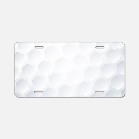 Golf Ball Texture Aluminum License Plate