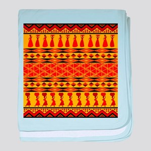 African Traditional Ornament baby blanket