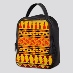 African Traditional Ornament Neoprene Lunch Bag