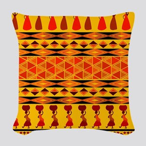 African Traditional Ornament Woven Throw Pillow
