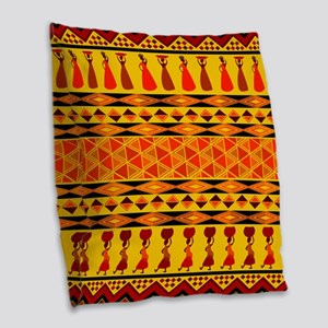 African Traditional Ornament Burlap Throw Pillow
