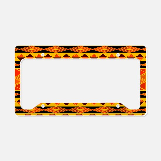 African Traditional Ornament License Plate Holder