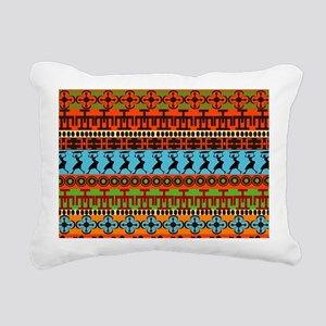African Traditional Ornament Rectangular Canvas Pi