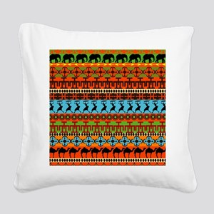 African Traditional Ornament Square Canvas Pillow