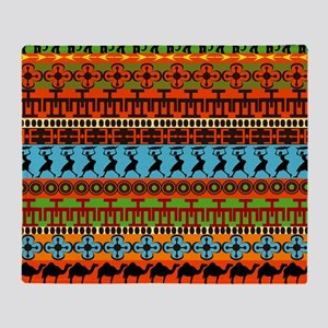African Traditional Ornament Throw Blanket