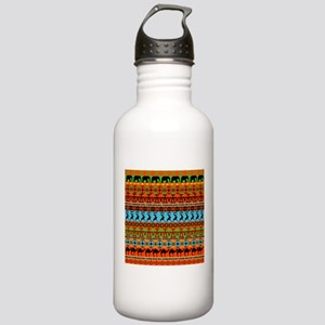 African Traditional Ornament Sports Water Bottle