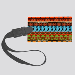 African Traditional Ornament Large Luggage Tag