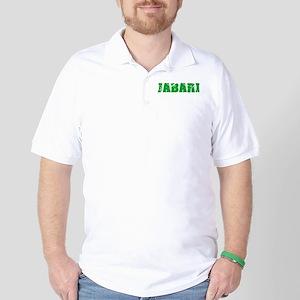 Jabari Name Weathered Green Design Golf Shirt