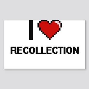 I Love Recollection Digital Design Sticker