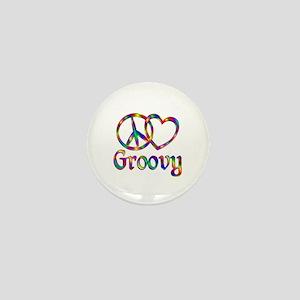 Peace Love Groovy Mini Button