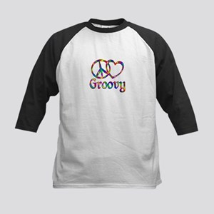 Peace Love Groovy Kids Baseball Jersey