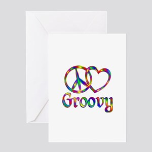 Peace Love Groovy Greeting Card