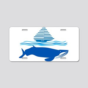 Whale and Jonah Aluminum License Plate
