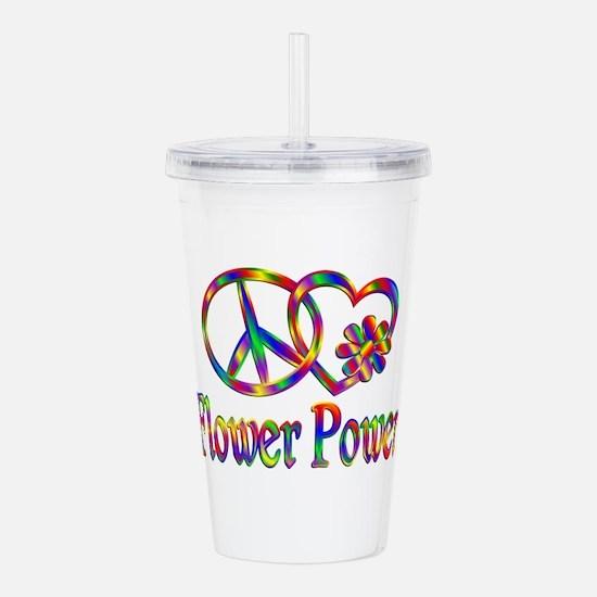 Peace Love Flower Powe Acrylic Double-wall Tumbler