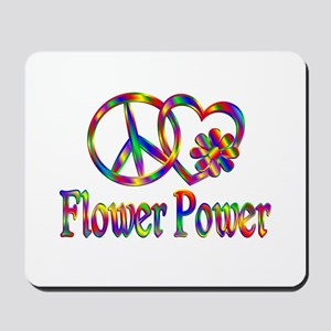 Peace Love Flower Power Mousepad