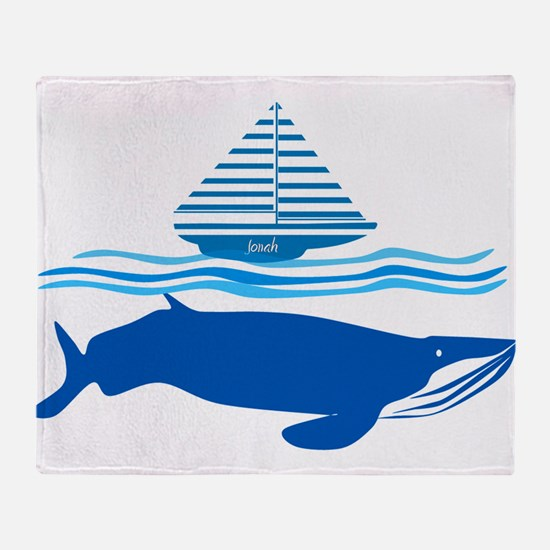 Whale and Jonah Throw Blanket