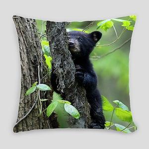 Black Bear Cub Everyday Pillow