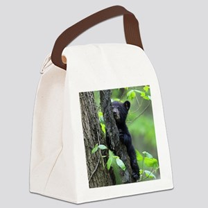 Black Bear Cub Canvas Lunch Bag