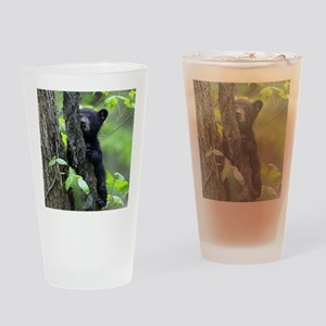 Black Bear Cub Drinking Glass