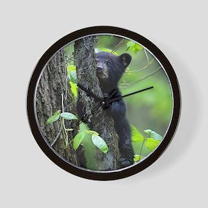 Black Bear Cub Wall Clock